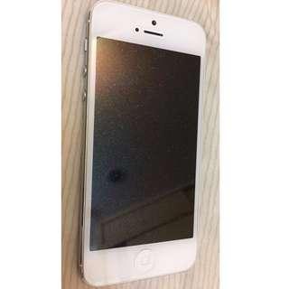 🚚 【自售】iPhone 5/16g/銀