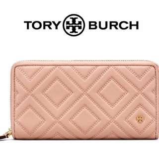 美國 Tory Burch Fleming 菱格裁縫皮革長夾 皮夾 -多色