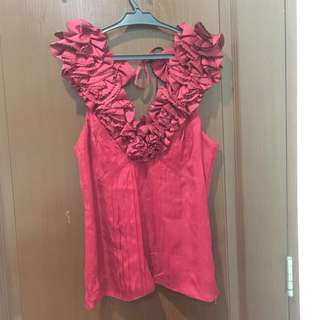 Karen Millen Ruffled Top