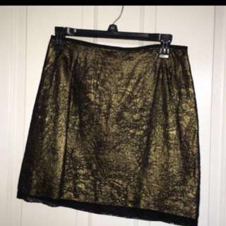 Black/gold a-line skirt