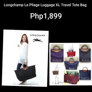Authentic Longchamp Le Pliage XL Travel Tote Bag