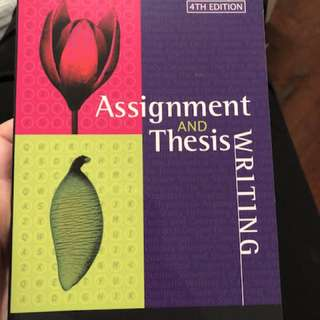 Assignment and Thesis Writing by Jonathan Anderson and Millicent Poole