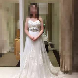 Brand new: white wedding gown