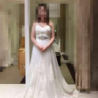 Brand new: white wedding gown