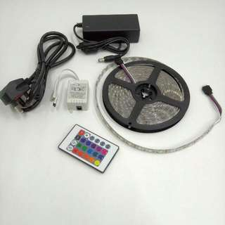 5 Meter 300 Color Led Strip Light RGB With IR Remote Controller