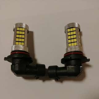 9006 HB4 LED 6000k 霧燈 一對 12V 80W(實際功率: 20W)