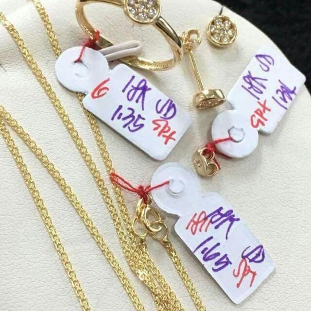 18k jewelry set