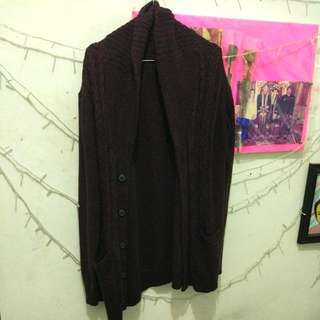 Outer/cardigan Maroon