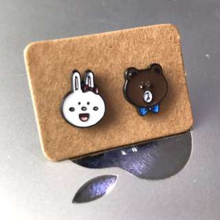 🎄XMAS SALE🎄 LINE Cony 2pcs Ear Studs
