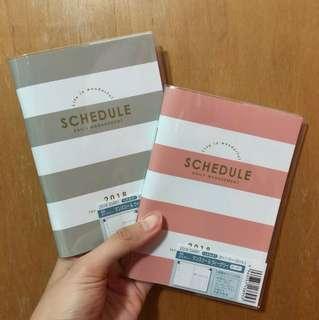 Basic pastel border 2018 A6 schedule book planner diary journal agenda