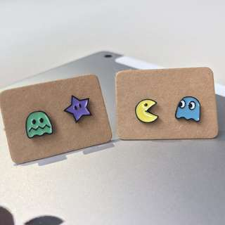 🎄XMAS SALE🎄 Pacman 4pc Ear Studs