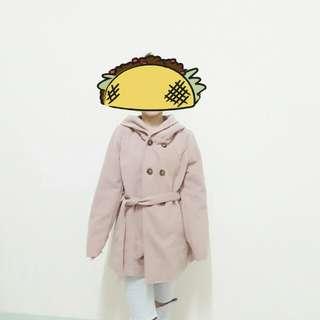 🚚 氣質杏色毛呢大衣#好物任你換#幫你省運費