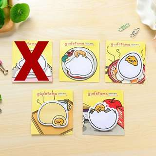 [INSTOCK] 48pc Gudetama Post It