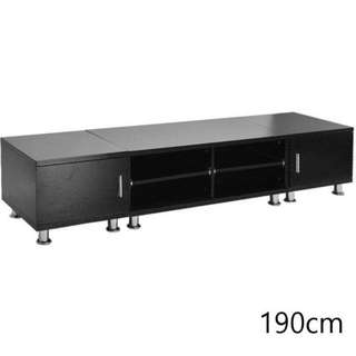 Lowline TV Stand Entertainment Unit in Black 190cm NEW