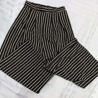 Stripes cullotes pants