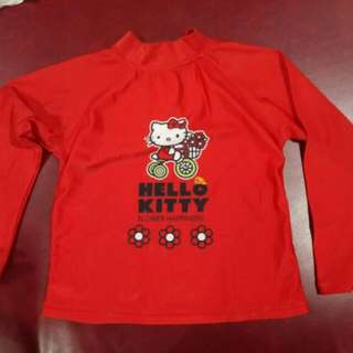 Hello Kitty brand rashguard size: 2T