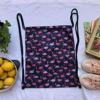 Flamingo Waterproof Drawstring Bag