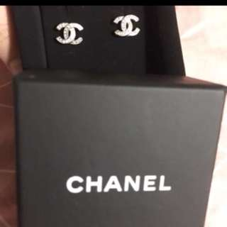 Chanel閃石耳環