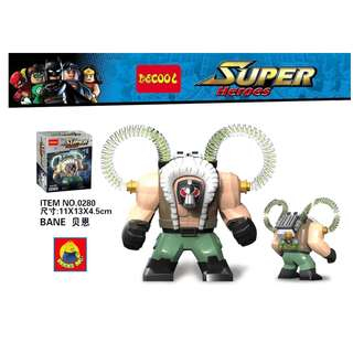 DECOOL 0280 Super Heroes Batman Movie Bane Maxifigures