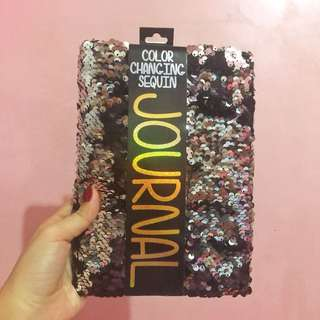 Color Changing sequin Journal