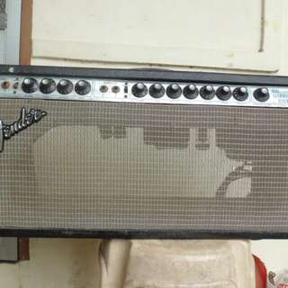 Vintage Fender Dual Showman Reverb Head Tube Amplifier for bass or electric guitar