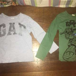 Take all!Authentic Gap and Turtles shirts