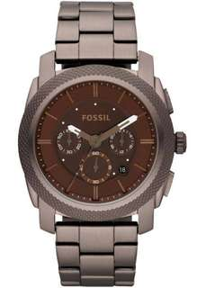 Fossil Mens FS4661 Machine Stainless Steel Chronograph Brown Dial