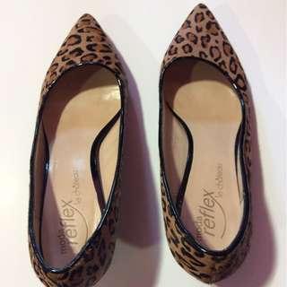 Leopard print kitten heels size 8
