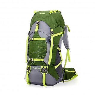 50L Internal Frame Hiking Backpack Outdoor Rucksack, Army Green