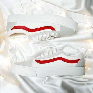VANS STYLE 36 Marshmallow/Racing Red Sneakers