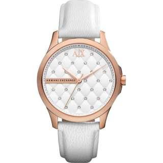 Armani Exchange AX5205 Ladies White Rose Gold IP Watch