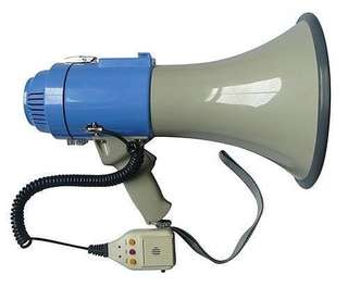 25W Megaphone PA System Loud Speaker Voice Recorder brand new