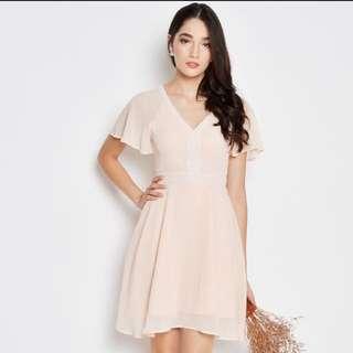 Lisa Kimono Dress In Pink