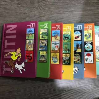 TINTIN comic volume in RUNNING SERIES FULL COLLECTION (1-7)