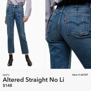 Aritzia Levi's Altered Straight No Li