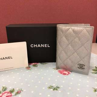 Chanel cardholder wallet silver 銀色