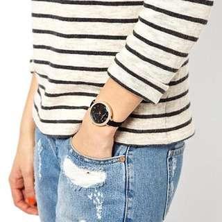 「s.Luu」現貨:Asos Olivia Burton Black Modern Vintage Watch 圓錶面/絨布錶帶