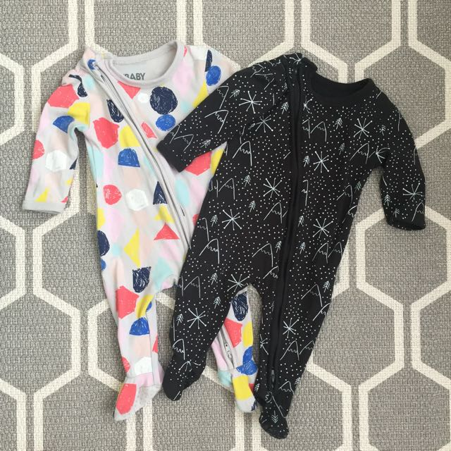 2 for RM40 Cotton On Inverted Zipper Sleepsuit