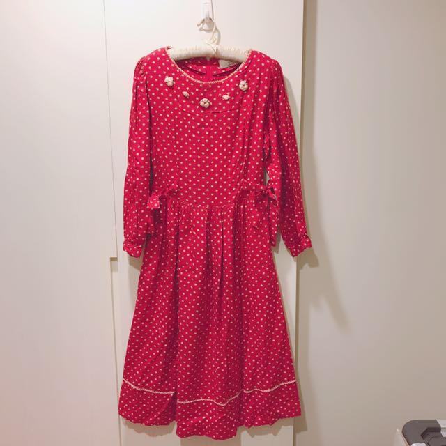復古甜美洋裝