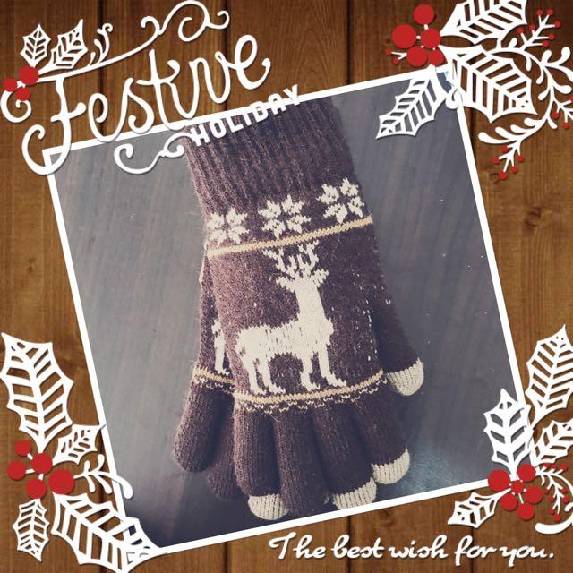 針織保暖手套