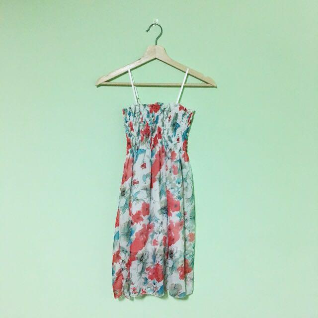 夏日繽紛雪紡洋裝