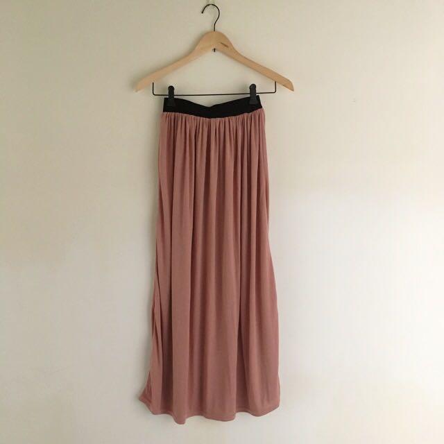 棉質收腰長裙