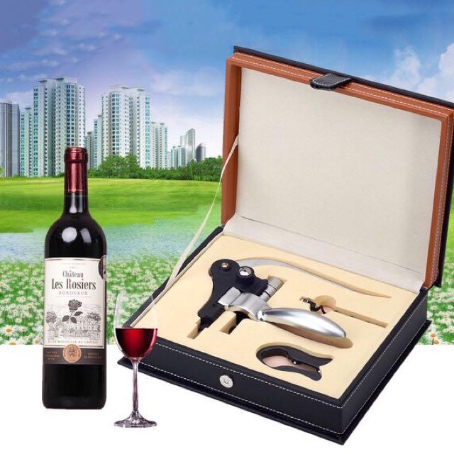 紅酒開瓶器三件組禮盒