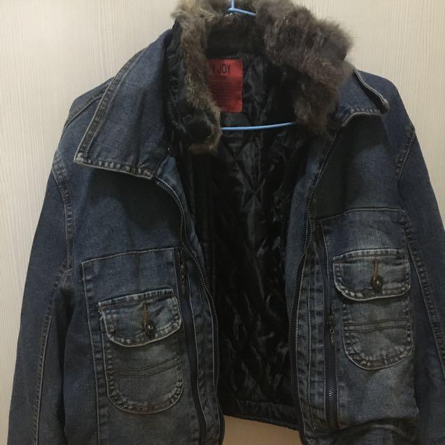 牛仔保暖外套
