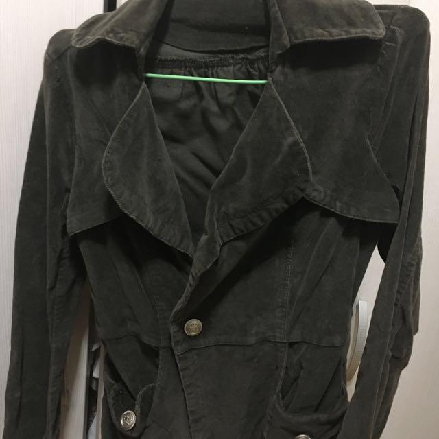 墨綠軍風外套