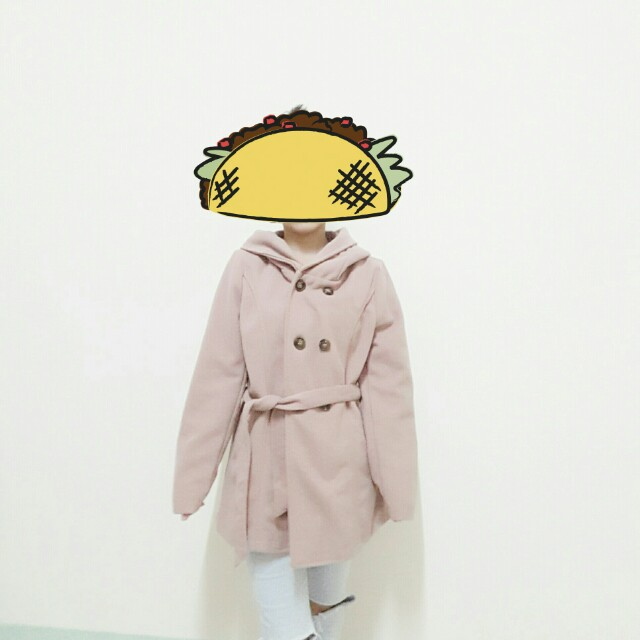 氣質杏色毛呢大衣#好物任你換#幫你省運費
