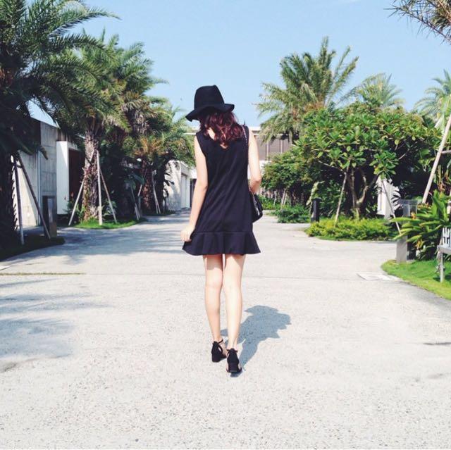 黑色魚尾小洋裝