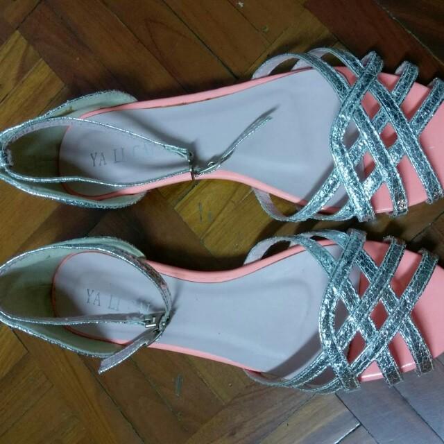 全新香港製 銀蔥氣質平底鞋