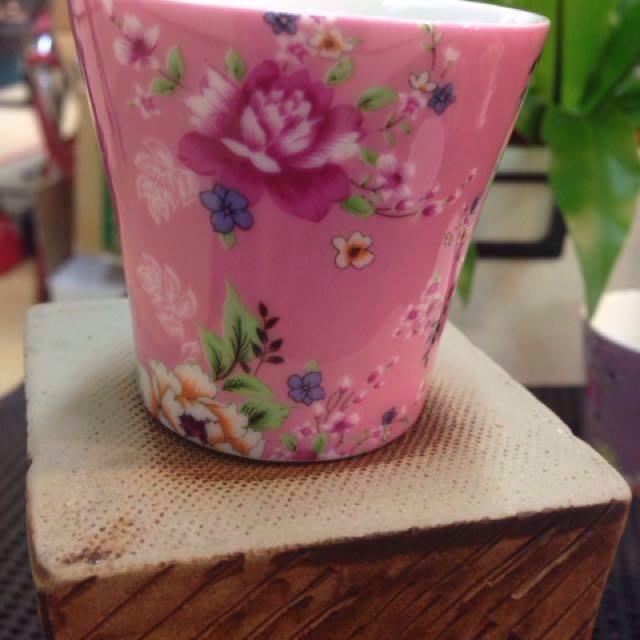 陶瓷茶杯 電花方式 直徑5.5高5.5公分