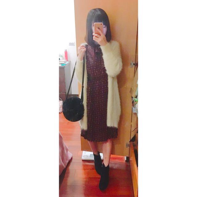 日本 E hyphen  毛茸茸長版外套